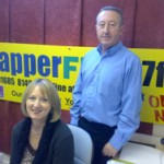 Gary from PEP with local AM Christine Chapman
