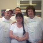 Charity Walkers (diabetes and cancer research) with Stuart Cable